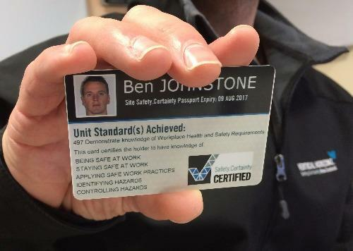 Health and Safety Induction Cards: Site Safety.Certainty Passports